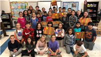 Fourth-Graders Give Back for Thanksgiving photo
