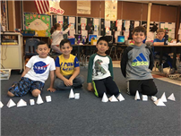 Second-Graders Study Shapes, Describe Heroes photo 3
