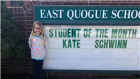 East Quogue Recognizes Student of the Month